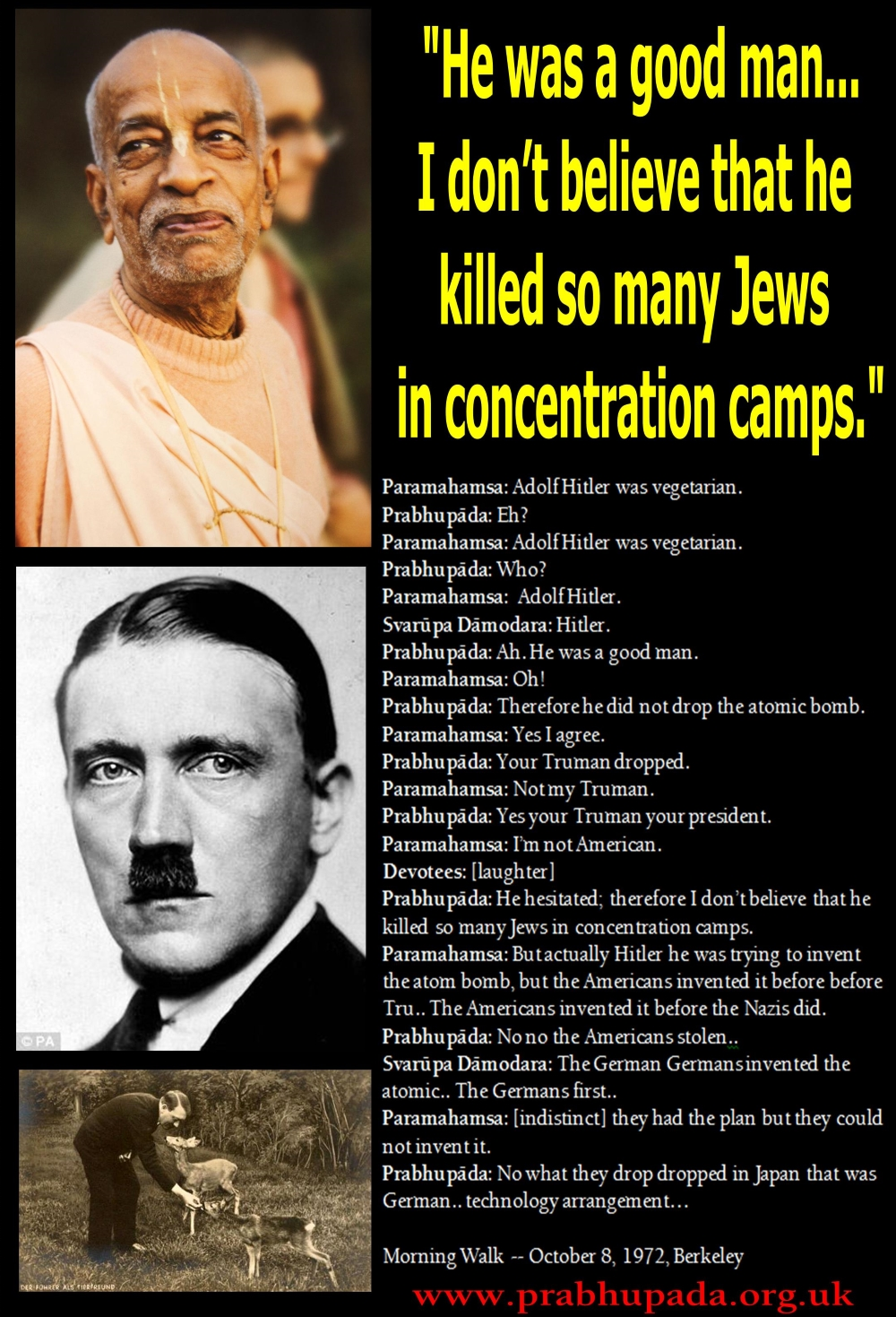 """adolf hitler and the holocaust The holocaust is the greatest crime in history, one that people  """"adolf hitler, i  love you because you are both great and simple,"""" he wrote."""